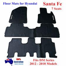 Waterproof Rubber Floor Mats Tailored For Hyundai Santa Fe DM Series 2012 - 2018