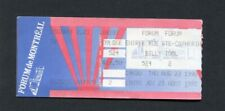 1990 Billy Idol Concert Ticket Stub Montreal Canada Charmed Life Tour