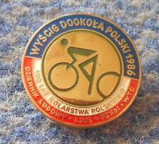 43 th TOUR DE POLOGNE CYCLING RACE 1986 DZIENNIK LUDOWY MEDIA PRESS PIN BADGE