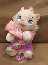 "Disney Park Aristocats Marie Cat Blanket Babies Plush Toy 10"" Duchess Kitten"