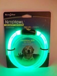 "Nite Ize NiteHowl LED Safety Necklace Green Dog Collar 12""-27"" Weather Resistant"