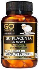 GO Healthy GO Placenta 20,000mg 60 Capsules New Zealand Sheep Placenta