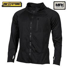Maglia Felpa Termica Tattica MFH Underwear Level 2 GEN III Caccia Militare BK