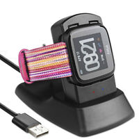 For Fitbit Versa Smart Watch USB Charging Cable Power Dock Cradle Stand Bh