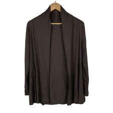 Paula Ryan Womens Cardigan Top Size Small Open Front Brown Made In New Zealand