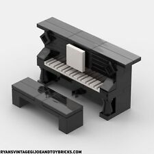 LEGO CITY - CUSTOM UPRIGHT PIANO : MUSICAL INSTRUMENT AUTHENTIC PARTS & PIECES
