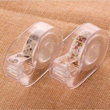 Transparent Cutting Paper Tape Plastic Tape Dispenser School Office Supplies New