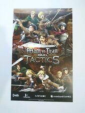 Anime Expo AX 2019 Exclusive Attack on Titan Tactics Poster 17 X 11 inches