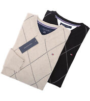 Tommy Hilfiger Men's Classic Fit V-Neck Argyle Long Sleeve Sweater -$0 Free Ship