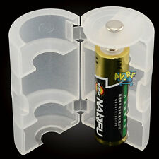 1xAA to D Size Battery Holder Converter Conversion Adapter Switcher Case White