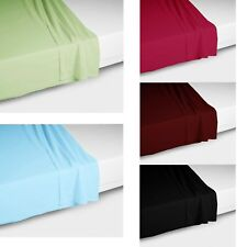 FLAT Sheet Choice of Polyester cotton or Pure Cotton - Single Double King
