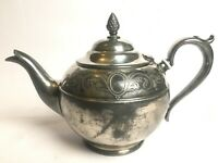 Vintage R R Sheffield E P 02947 Silver Plate Teapot Made In England