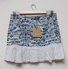 STEVIE MAY Designer Coral Garden Linen Blend Mini Skirt - Size Medium - BNWT