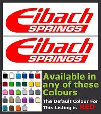 EIBACH SPRINGS STICKERS / DECALS x 2