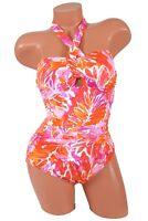 Ralph Lauren Women's Lush Tropical Print Cutout Halter Swimsuit Size 4 NWT