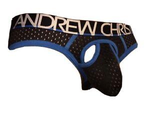 Andrew Christian Black Net Briefs Medium