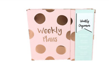 Tri Coastal Design Pink Weekly Plans Polka Dot Planner Organizer