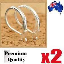 925 Stamped Sterling Silver Earring Ear Hooks Lever Back Open 2 Pairs AU