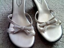 Callisto of California Slip On Sandals Open Toe Platform Women's 10 Crystals NEW