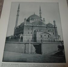 1892 Antique Print MOSQUE OF MOHAMMED ALI CAIRO EGYPT Alabaster from Photo