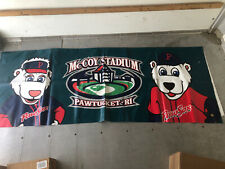 HUGE Pawtucket Red Sox Paws McCoy Stadium 2 Sided Fence Banner From Stadium