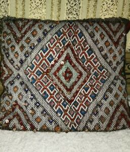 Traditional Moroccan Pillow berber Vintage-Handmade Cover 50cm/50cm inches