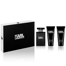 KARL LAGERFELD POUR HOMME 100ML 3PC GIFTSET EDT PERFUME SPR BY KARL LAGERFELD