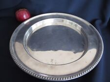 MAPLE AND CO ENGLAND SILVER PLATED CHARGER PLATER 1850S