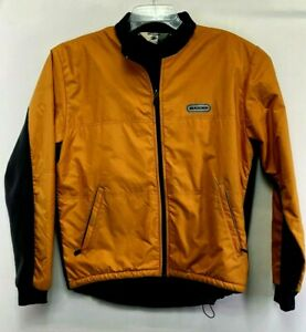 SUGOI Mens  Medium Orange/ Black Long Sleeve Full Zip Cycling Jacket (K75)