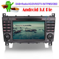 Android 9.0 DVD GPS Navigation DAB Autoradio For Mercedes CLK CLC W209 A209 C209