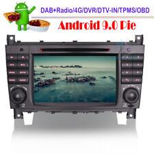 Android 9.0 DVD GPS Navigation DAB Autoradio For Mercedes CLK CLC W209 A209 C209