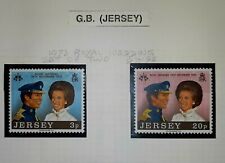 Jersey 1973 Royal Wedding Stamp Set MNH