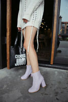 Plus Size Women Ladies Ankle Boots Block High Heel Round Toe Fashion Shoes New