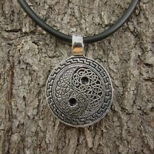 ae 26 CLASSIC YIN YANG PEWTER PENDANT JEWELRY MEN NECKLACE ORNAMENT UNISEX THAI