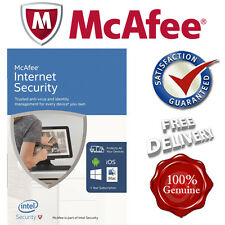 *SEALED* McAfee Internet Security NEW 2017 3 USERS NOT OLD 2016 PC/Mac/Android