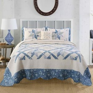 Kasentex Hotel Luxury Quilt Bedspread 100% Soft Cotton. Cozy, Winter
