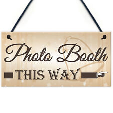 Photo Booth This Way Hanging Wedding Direction Decoration Arrow Plaque Sign