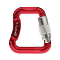 Perfeclan Aluminum Alloy Locking Carabiner for Paraglider Paragliding Red