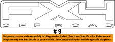 FORD OEM 12-16 F-350 Super Duty Pickup Bed-Decal Sticker CC3Z9925622AA