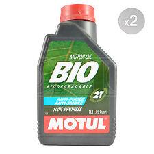 Motul BIO 2T BIODEGRADABLE Two Stroke High Performance Lubricant 2 x 1 Litres 2L