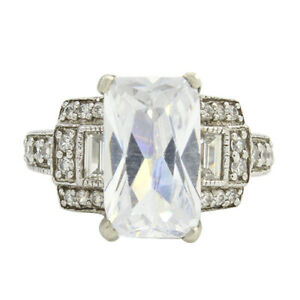 HSN Victoria Wieck Multi Cut Cubic Zirconia Solitaire w/Accents Ring Sz 6