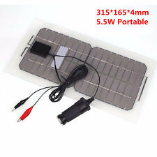 5.5W USB Solar Panel Battery Charger For Phone Car Auto Motorcycle Truck Boat