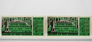 Pittsburgh vs. Notre Dame 1934 College Football Vintage Ticket Stubs RARE V54