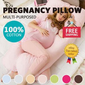 Aus Made Nursing Pillow Maternity Pregnancy Sleeping Support Body Feeding cover