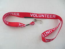 Quality Charity VOLUNTEER Lanyards Security ID Card Badge Holders Free Delivery