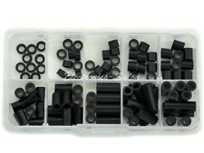 Black Nylon Round Spacer Assortment Kit, for M4 Screws, L2~21mm, Plastic.