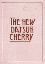 Datsun Nissan Cherry 1980 UK Market Foldout Brochure 1.0 1.2 Hatch Estate Coupe