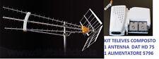 ANTENNA UHf TELEVES 149741 DAT 75 HD BOSS TECH 75 ELEMENTI + ALI0MENTATORE 57901