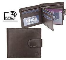 Prime Hide RFID Blocking Mens Washington Luxury Classic Brown leather Wallet3088