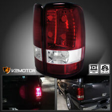 For 2000-2006 Chevy Gmc Suburban Yukon Xl Red Clear Tail Lights Rear Lamps Pair